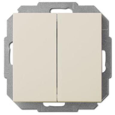 Włącznik podwójny SENTIA  Kremowy  ELEKTRO - PLAST