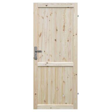 Skrzydło drzwiowe drewniane EKO 80 Prawe RADEX