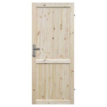 Skrzydło drzwiowe drewniane pełne Eko 80 Prawe Radex