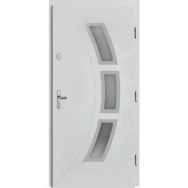 Drzwi zewnętrzne drewniane przeszklone Bianka białe 90 prawe Lupol