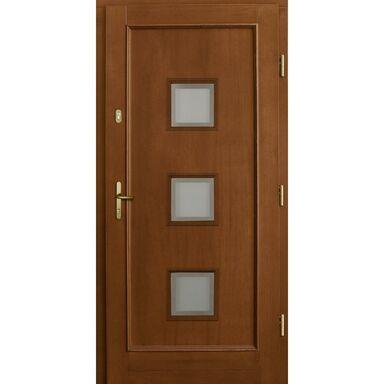 Drzwi wejściowe H412 P1 Orzech 90 Prawe
