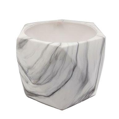 Osłonka na doniczkę 21 cm ceramiczna MARMUR