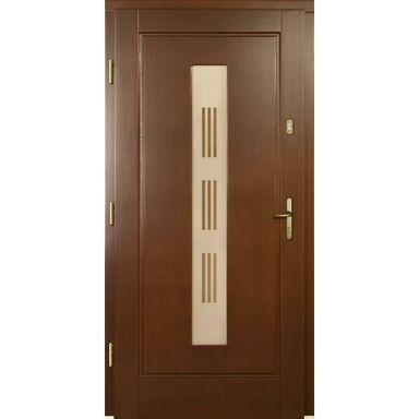 Drzwi wejściowe LAURA P1 Orzech 90 Lewe
