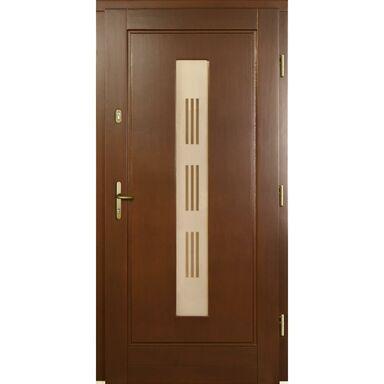 Drzwi wejściowe LAURA P1 Orzech 90 Prawe