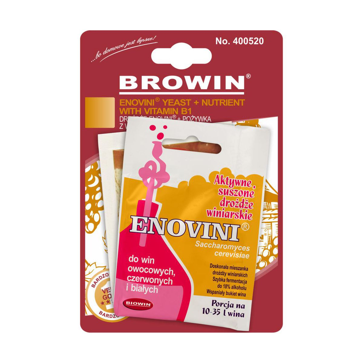 Drożdże z pożywką 17 g ENOVINI 400520 BROWIN