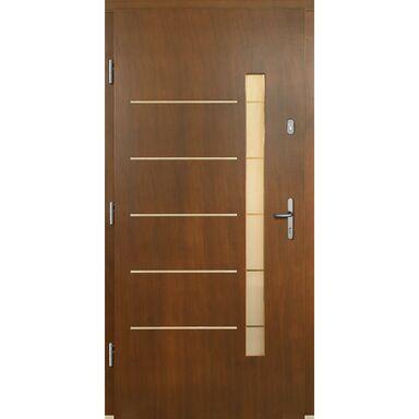 Drzwi wejściowe DALIA P1 Orzech 90 Lewe