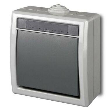 Włącznik pojedynczy / schodowy AQUANT  Szary  ELEKTRO - PLAST