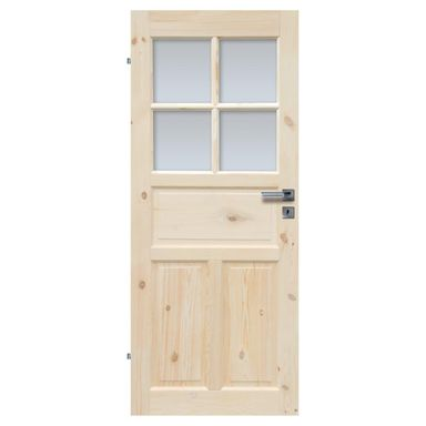 Skrzydło drzwiowe drewniane łazienkowe Londyn Lux 90 Lewe Radex