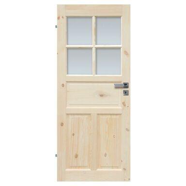 Skrzydło drzwiowe łazienkowe drewniane LONDYN LUX 90 Lewe RADEX