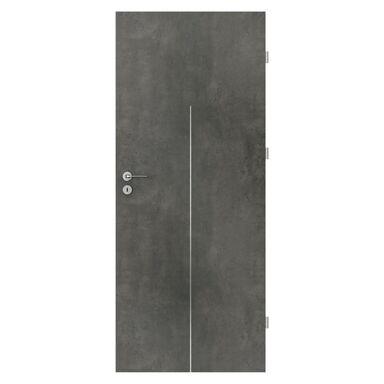 Skrzydło drzwiowe pełne Line Beton ciemny 70 Prawe Porta