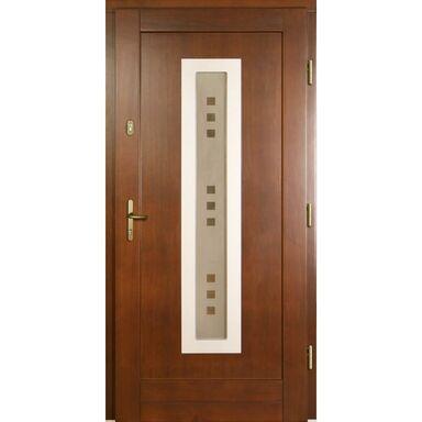 Drzwi wejściowe NEW3 P1 Orzech 90 Prawe