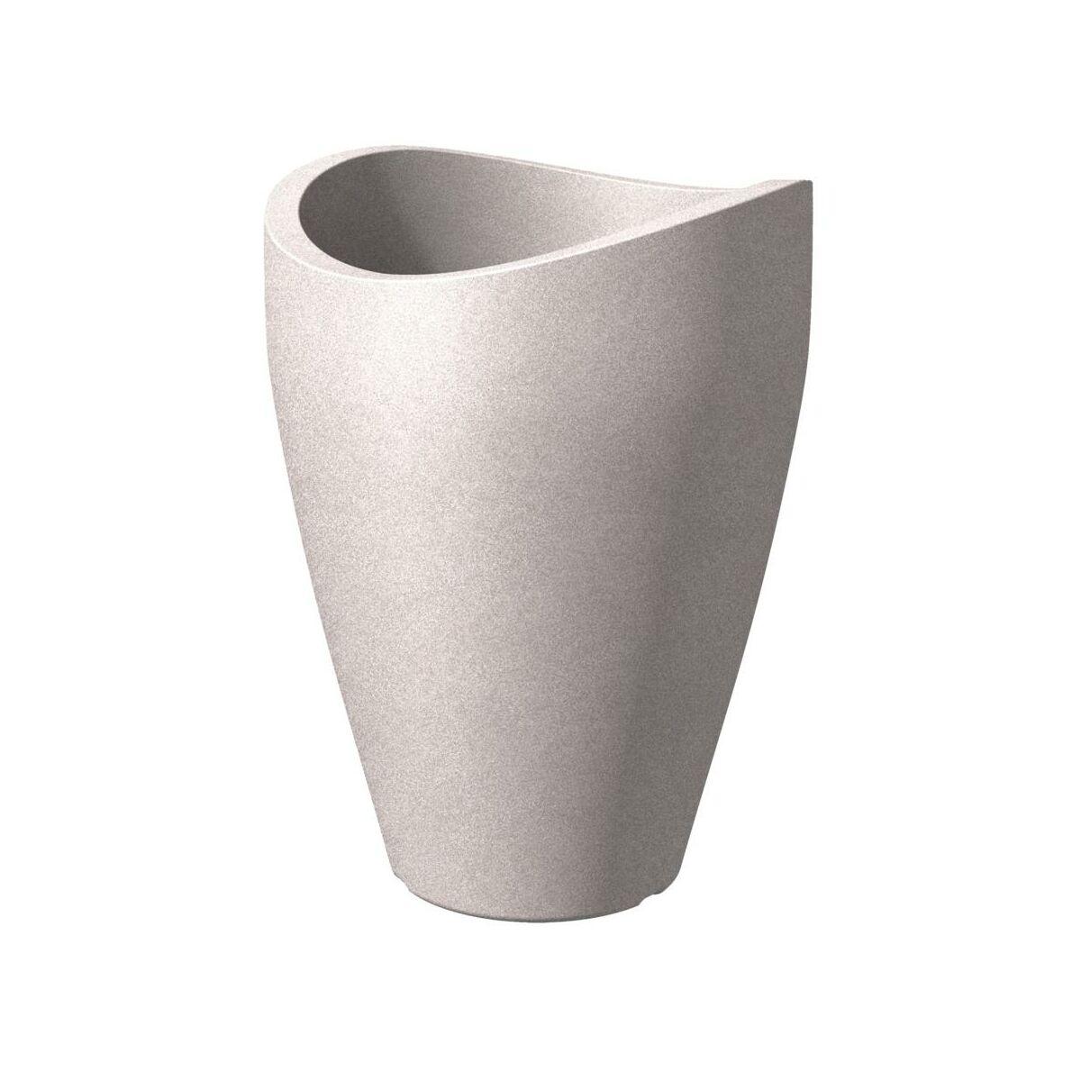 doniczka taupe granit scheurich sprawd opinie w leroy. Black Bedroom Furniture Sets. Home Design Ideas
