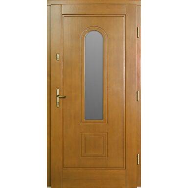 Drzwi zewnętrzne drewniane przeszklone Dominika afromozja 90 prawe Lupol