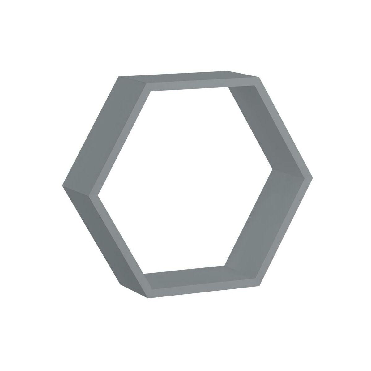 Polka Scienna Hexagon Szara 30 X 26 Cm Spaceo Polki W Atrakcyjnej Cenie W Sklepach Leroy Merlin