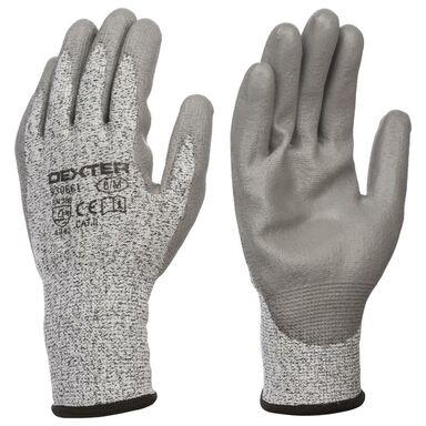 Rękawice poliuretanowe HPPE  r. 8  DEXTER