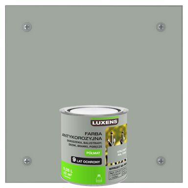 Farba antykorozyjna 0.7 l Stalowy Półmat LUXENS