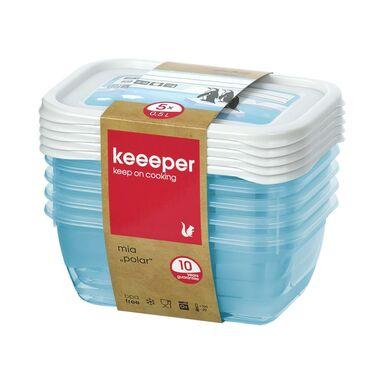 Zestaw pojemników na żywność Polar 5 x 0.5 l Keeeper