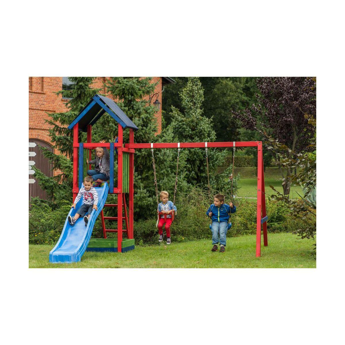 plac zabaw zuzia szer 390 x g 200 x wys 290 cm sobex hu tawki dla dzieci bujaki w. Black Bedroom Furniture Sets. Home Design Ideas