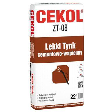 Tynk CEMENTOWO-WAPIENNY ZT-02 Szary 22 kg CEKOL