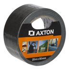 Taśma naprawcza 50 mm x 25 m czarna tkaninowa AXTON