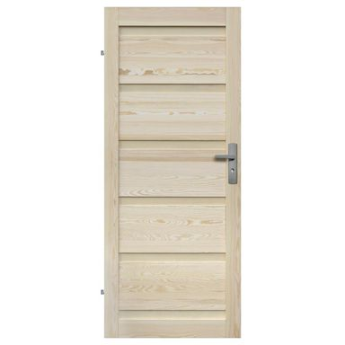 Skrzydło drzwiowe drewniane pełne Genewa 80 Lewe Radex