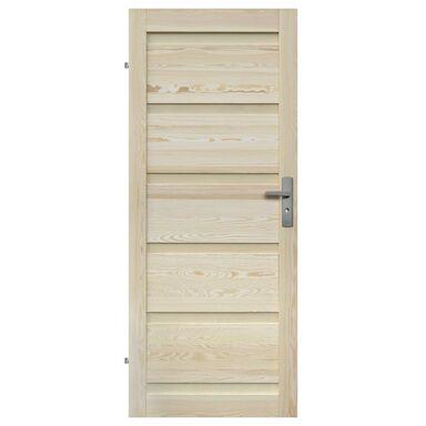 Skrzydło drzwiowe pełne drewniane GENEWA 80 Lewe RADEX