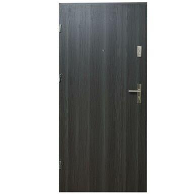Drzwi zewnętrzne MDF Hektor 32 dB Dąb Grafit 90 Lewe otwierane do wewnątrz Domidor