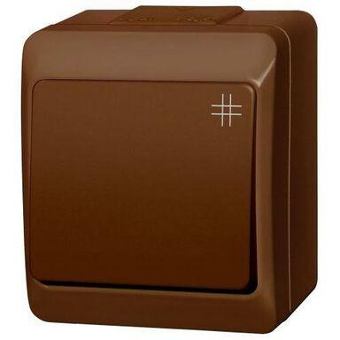 Włącznik pojedynczy HERMES  Brązowy  ELEKTRO-PLAST