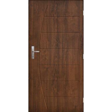 Drzwi zewnętrzne stalowe antywłamaniowe RC3 Metz 80 prawe orzech Pantor