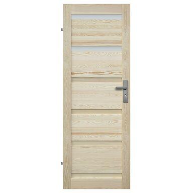 Skrzydło drzwiowe drewniane łazienkowe Genewa 70 Lewe Radex