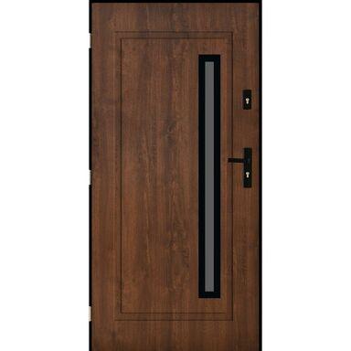 Drzwi zewnętrzne stalowe PARYŻ Orzech 90 Lewe PANTOR