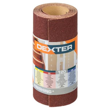 Papier ścierny ROLKA PAPIER P120 115 x 2.5 m DEXTER
