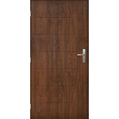 Drzwi zewnętrzne stalowe antywłamaniowe RC3 Metz 80 lewe orzech Pantor