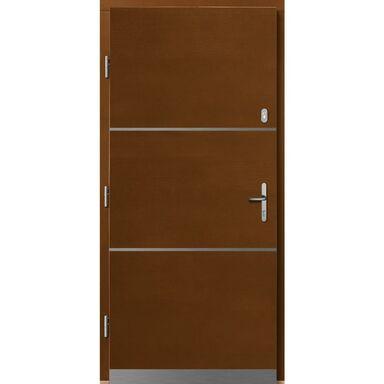 Drzwi zewnętrzne drewniane Wega afromozja 90 lewe Lupol