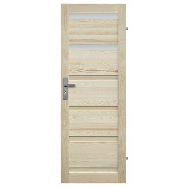 Skrzydło drzwiowe drewniane łazienkowe Genewa 90 Prawe Radex