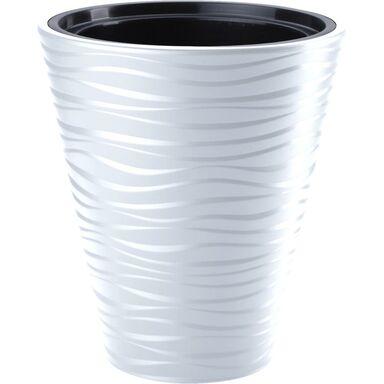 Doniczka Plastikowa 30 Cm Biała Sahara Form Plastic
