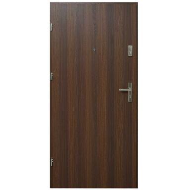 Drzwi zewnętrzne MDF Hektor 32 dB Orzech Premium 90 Lewe otwierane do wewnątrz Domidor