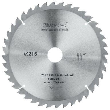 Tarcza do pilarki tarczowej HW/CT śr. 216 mm  40 z METABO