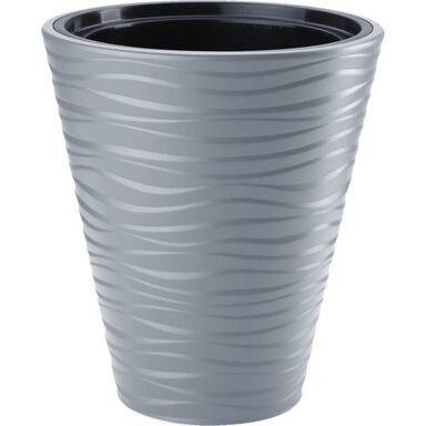 Doniczka plastikowa 30 cm szara SAHARA FORM-PLASTIC