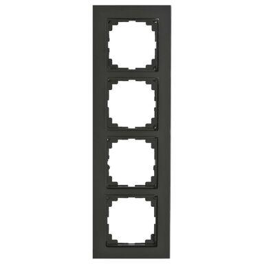 Ramka poczwórna ASTORIA czarny ELEKTRO-PLAST
