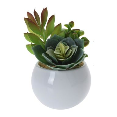 Sukulent sztuczny w ceramicznej doniczce 8 x 12 cm