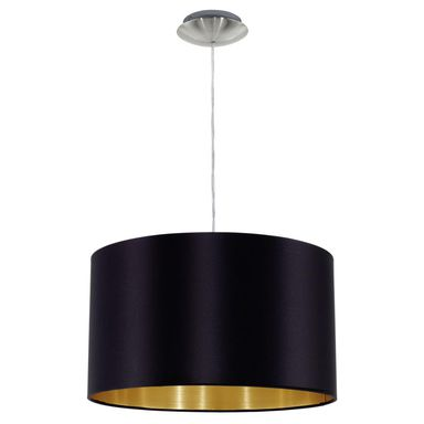 Lampa wisząca Maserlo czarna E27 Eglo