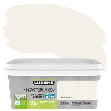 Farba wewnętrzna KUCHNIA I ŁAZIENKA 2,5 l Cukrowy pył LUXENS