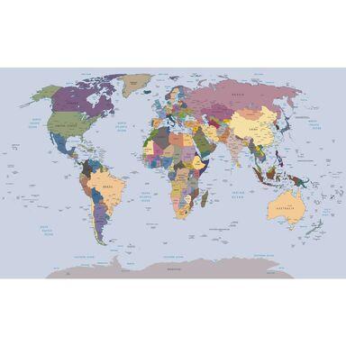 Fototapeta Mapa Świata 368 x 254 cm