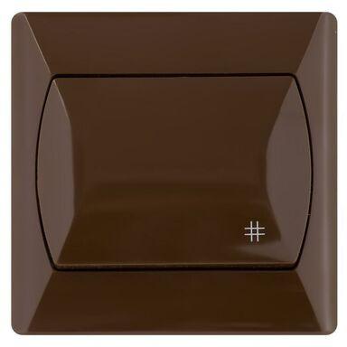 Włącznik krzyżowy AKCENT  brązowy  OSPEL