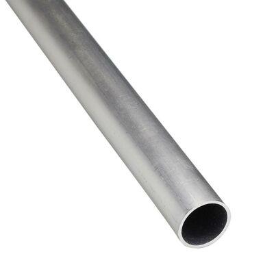 Rura okrągła aluminiowa 2.6 m x 20 mm surowa srebrna
