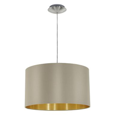 Lampa wisząca MASERLO taupe E27 EGLO
