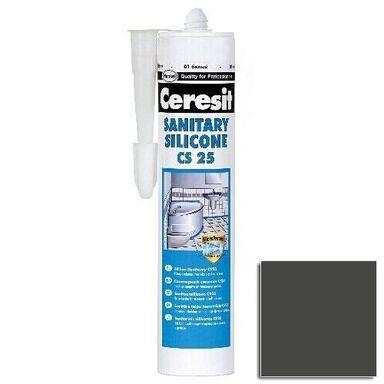 Silikon SANITARNY CS-25 Ciemny grafitowy 280ml CERESIT