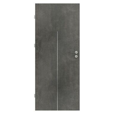 Skrzydło drzwiowe pełne Line Beton ciemny 80 Lewe Porta