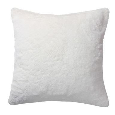 Poduszka pluszowa Rabbit Fur biała 45 x 45 cm